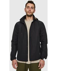 Herschel Supply Co. - Hooded Coaches Jacket In Black - Lyst