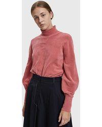 Just Female - Adelet Velour Pullover - Lyst