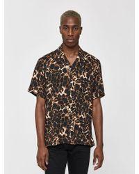 Gitman Brothers Vintage Leopard Camp Collar Shirt