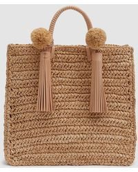 Loeffler Randall - Straw Travel Tote In Natural - Lyst