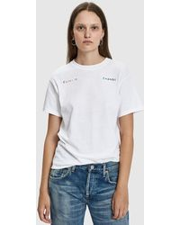 Collina Strada - Rainbow Embroidered Climate Change Tee - Lyst