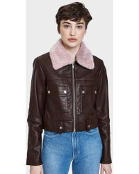 VEDA - Freeman Jacket With Pink Collar - Lyst