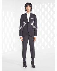 f8a08e60a Neil Barrett - Iconic Modernist Bonded Jersey Jacket - Lyst