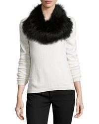 Monique Lhuillier - Fox Fur Cowl Collar/infinity Scarf - Lyst