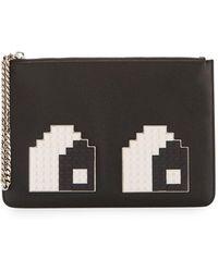 Les Petits Joueurs - Eyes Small Envelope Clutch Bag - Lyst