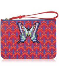 Liberty - Multi Butterfly Patch Wristlet Bag - Lyst
