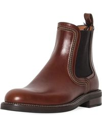 Lanvin - Men's Abrasivato Leather Chelsea Boot - Lyst