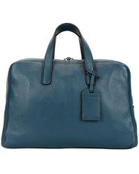 9ddad410d2 Giorgio Armani - Men s Deer Leather Carryall Duffel Bag - Lyst