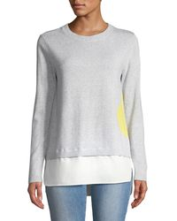 Lisa Todd - Dot Sweater With Shirting Hem - Lyst