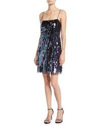 Aidan By Aidan Mattox - Sequin Flapper Mini Dress - Lyst