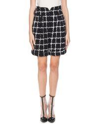 Balmain - High-waist Windowpane Tweed Shorts - Lyst