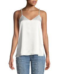 Cami NYC - The Heidi Silk Charmeuse Camisole W/ Pearlescent Embellishments - Lyst