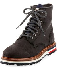 Moncler - New Vancouver Leather Lace-up Boot - Lyst