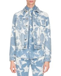 Givenchy | Bleached Stars Denim Jacket | Lyst