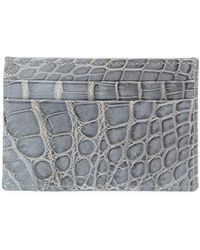 Neiman Marcus - Alligator Flat Card Case - Lyst