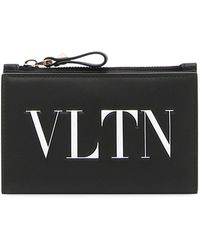 Valentino - Large Leather Pouch - Lyst