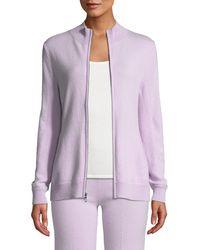 Neiman Marcus - Cashmere Zip-front Sweater - Lyst