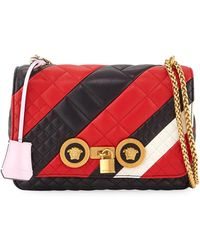 2d0279b591 Versace - Icon Medium Quilted Patchwork Shoulder Bag - Lyst
