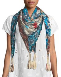 Johnny Was - Augustina Striped Pattern Fringe Scarf - Lyst