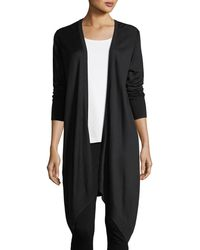 St. John - Plaited Knit Waterfall Cardigan - Lyst