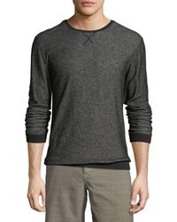 John Varvatos - Solid-trim Striped Crewneck Top - Lyst