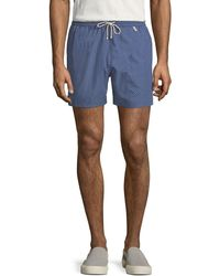 Loro Piana - White Waves Swim Trunks - Lyst
