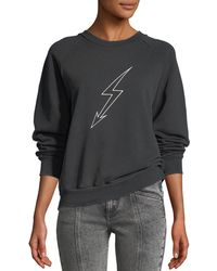 Givenchy - Lightning-bolt World Tour Crewneck Jersey Sweatshirt - Lyst