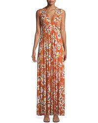 Rachel Pally - Long Sleeveless Zahara-print Dress - Lyst