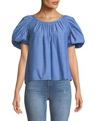 Joie - Lirona Bubble-sleeve Top - Lyst