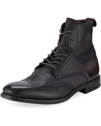 John Varvatos - Men's Irving Paneled Wing-tip Boots - Lyst