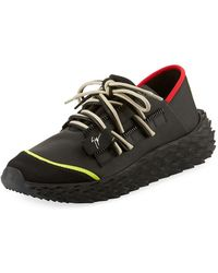 Giuseppe Zanotti - Men s Neoprene Textured-sole Running Dad Sneakers - Lyst a547bccc3241