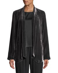 Eileen Fisher - Velvet Open-front Jacket - Lyst