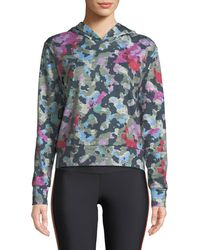 Terez - Printed French Terry Pullover Hoodie - Lyst