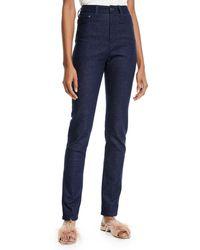 Brandon Maxwell - High-waist Five-pocket Skinny-leg Jeans - Lyst
