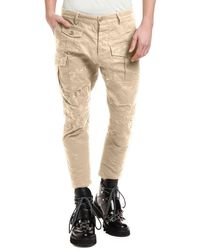 DSquared² - Men's Distressed Chino Cargo Pants - Lyst