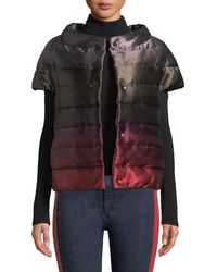 Herno - Short-sleeve Down-fill Ombre Puffer Coat - Lyst