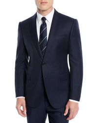 Emporio Armani - Men's Birdseye Two-piece Wool Suit - Lyst