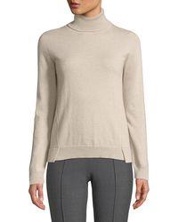 Agnona - Eternals 12-gg Cashmere Geo-slit Turtleneck Sweater - Lyst