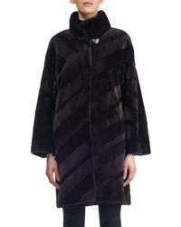 Gorski - Diagonal Sheared Mink Fur Stroller Coat - Lyst