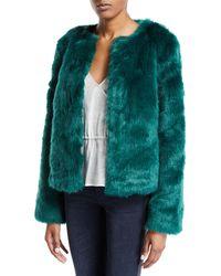 Lovers + Friends - Nyc Faux Fur Jacket In Green - Lyst