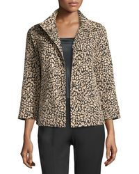 Lafayette 148 New York - Vanna Leopard-print Jacket Black/multi - Lyst