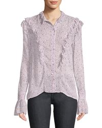 Zadig & Voltaire - Tweet Goa Ditsy Floral Button-front Blouse - Lyst