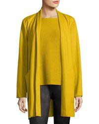 Eileen Fisher - Boiled Wool Jersey Long Jacket - Lyst