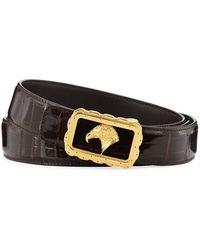 Stefano Ricci - Crocodile Leather Eagle-buckle Belt - Lyst