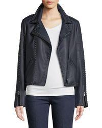Neiman Marcus - Leather Jacket W/ Studs - Lyst