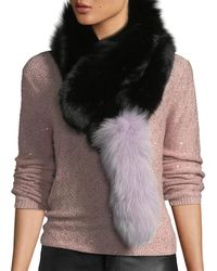 Charlotte Simone - Popsicle Fur Pull-through Scarf - Lyst