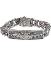 Konstantino - Men's Sterling Silver Id Bracelet - Lyst