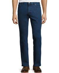 Ermenegildo Zegna - Stretch-denim Straight-leg Jeans - Lyst