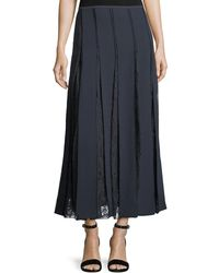 Lafayette 148 New York - Lauralee Finesse Crepe Skirt W/ Lace Insets - Lyst