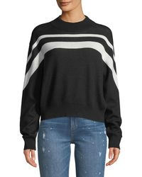 ATM Striped Cotton-blend Sweater